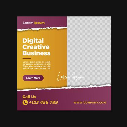 Corporate social media banner template