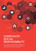 Corporate Social Responsibility. Brochure Template Layout, Cover Design