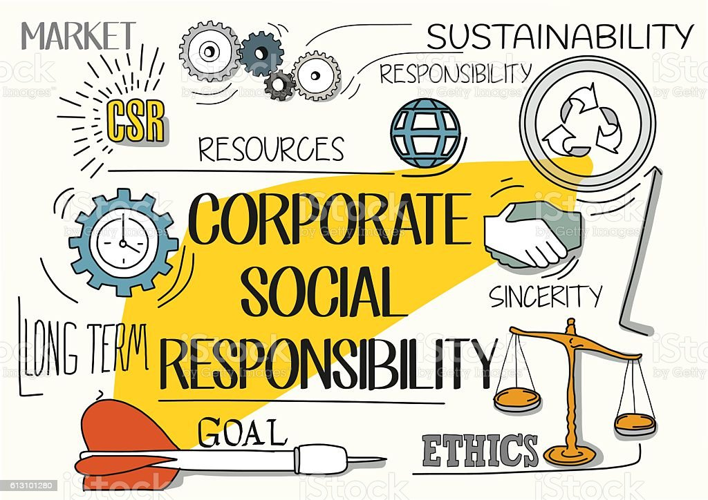 Corporate Social Responsibility Concept Stock Illustration ...