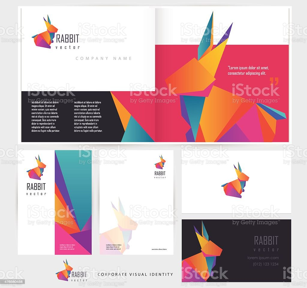 Corporate Stationery: Corporate Stationery Set Template Mockups With