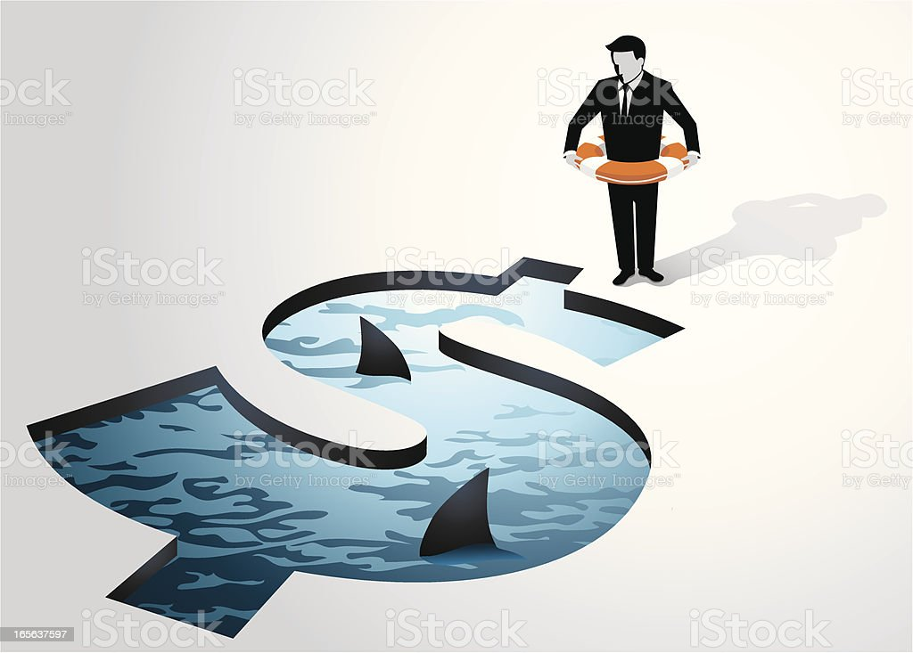 Corporate Threats vector art illustration