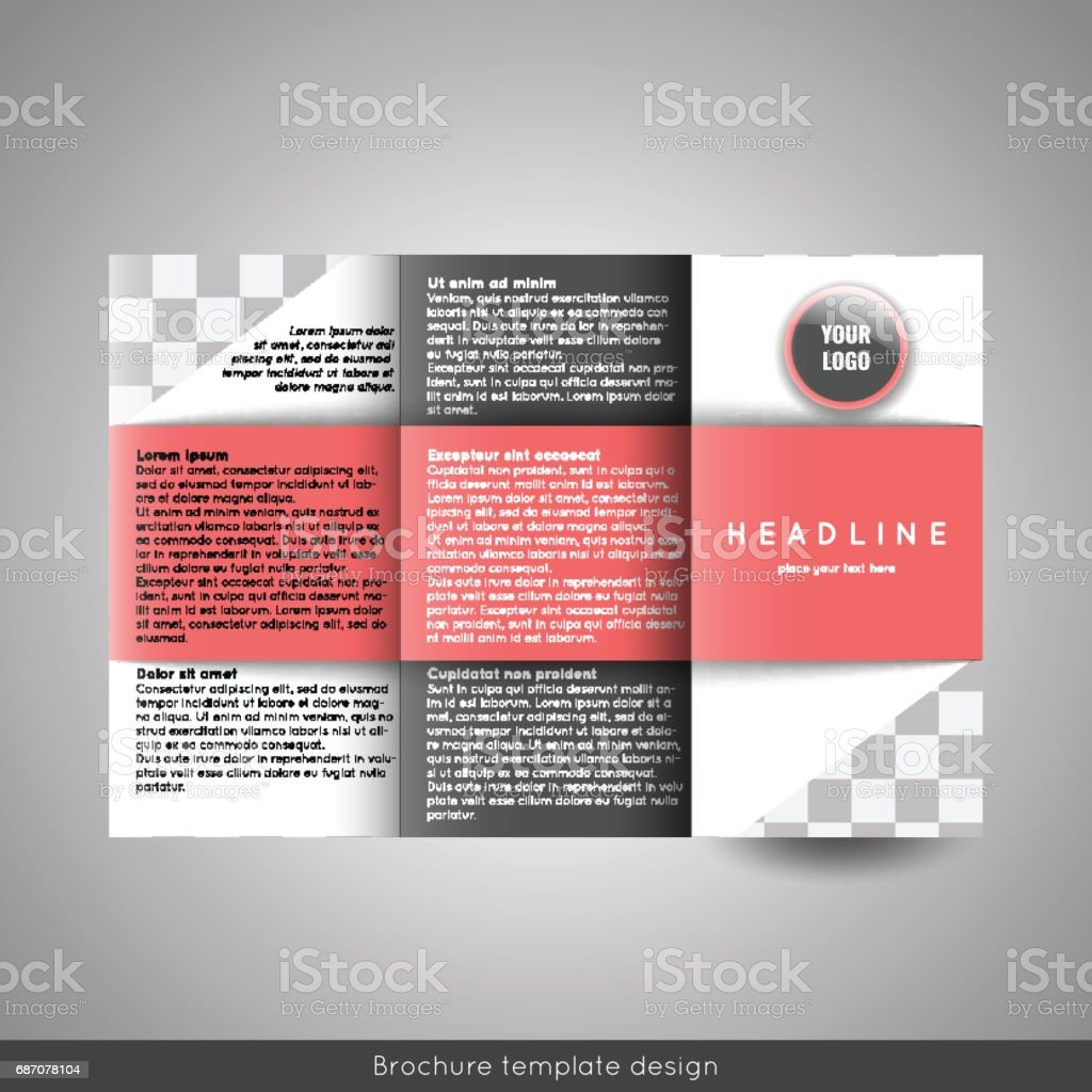 corporate trifold brochure template design annual report