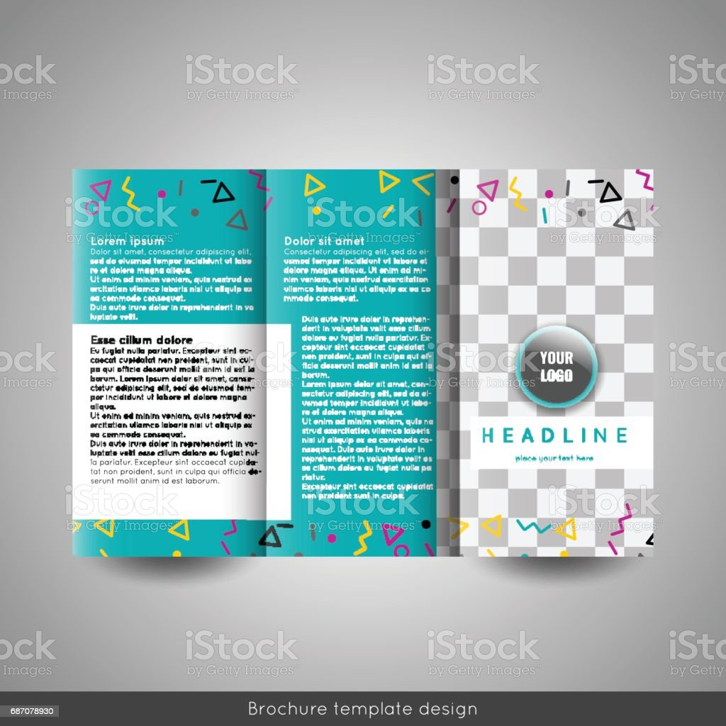 corporate trifold brochure template design annual report, Presentation templates