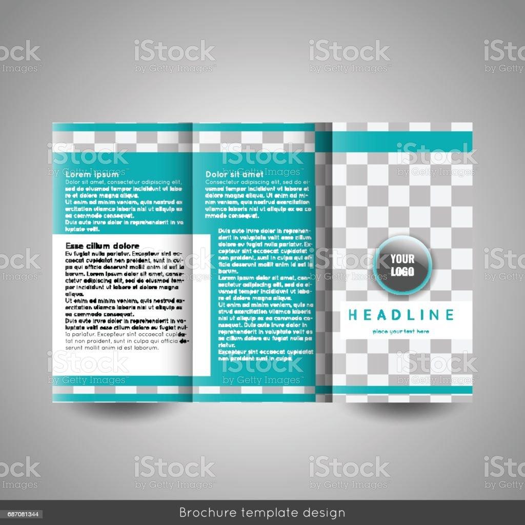 corporate trifold brochure template design annual report
