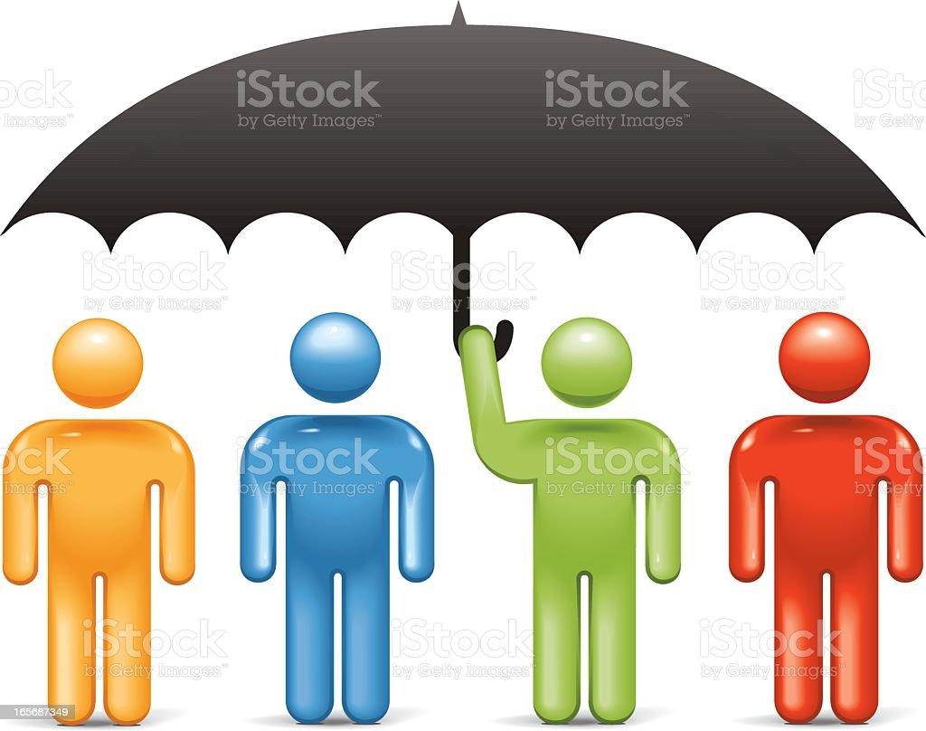 Corporate Umbrella: Stickman 2.0 royalty-free stock vector art