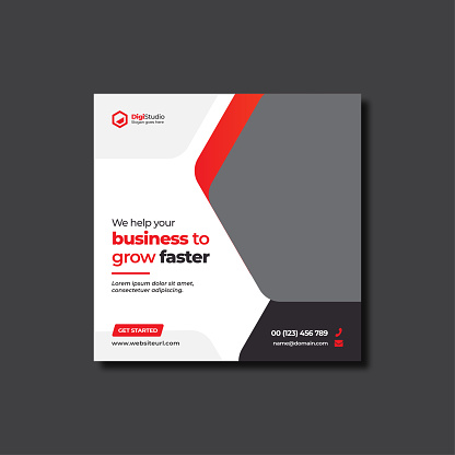 Corporate web banner or flyer social media post template