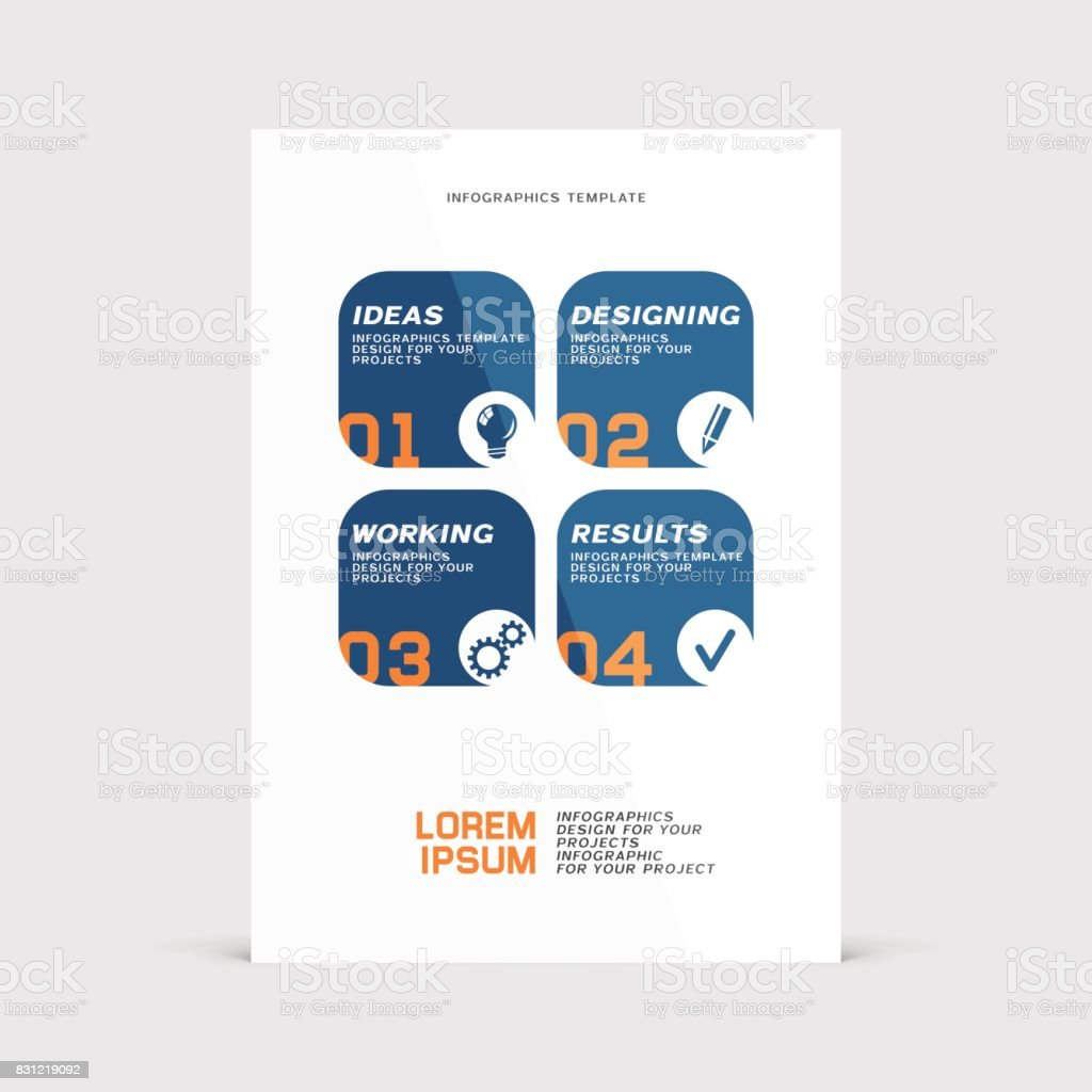 corporative vector design of paper flier or booklet cover stock