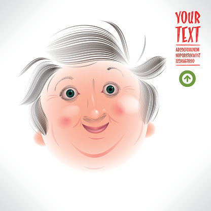 corpulent grandma caricature