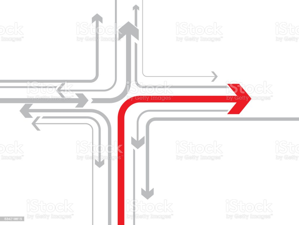 Correct direction vector art illustration