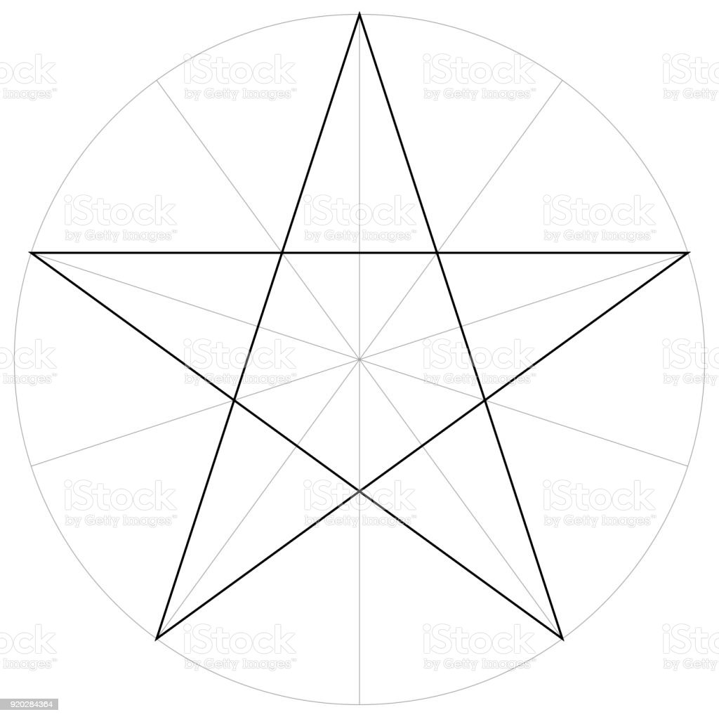 correct form shape template geometric shape of the pentagram five