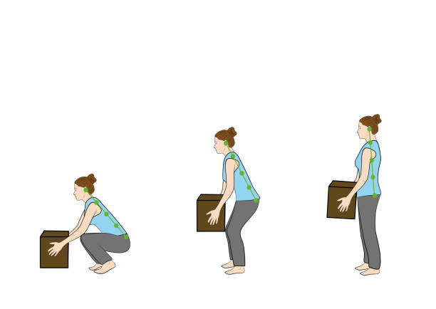 67 Safety Correct Lifting Of Heavy Box Vector Illustration Illustrations &  Clip Art - iStock