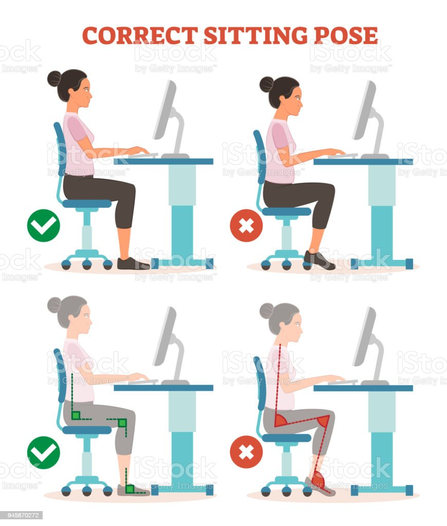 Richtig sitzen am arbeitsplatz