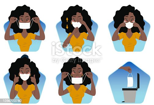 istock Correct use of mask against covid-19 1256720780