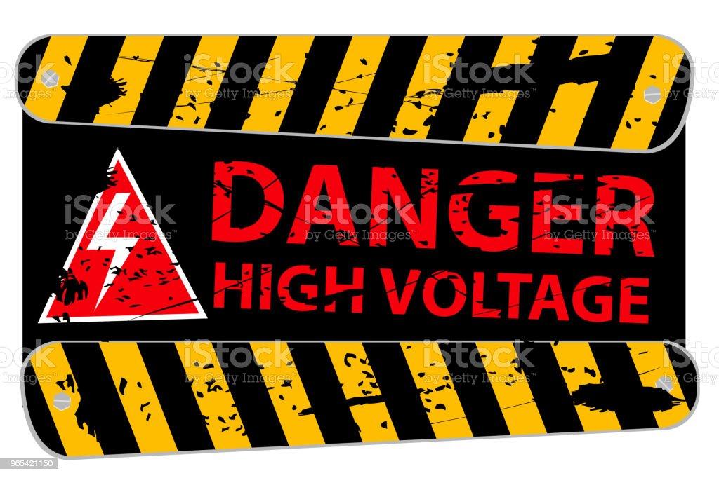 Corrosive Plank, Danger High Voltage corrosive plank danger high voltage - stockowe grafiki wektorowe i więcej obrazów bezpieczeństwo royalty-free