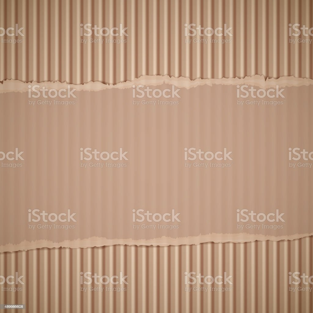 corrugated cardboard. vector art illustration