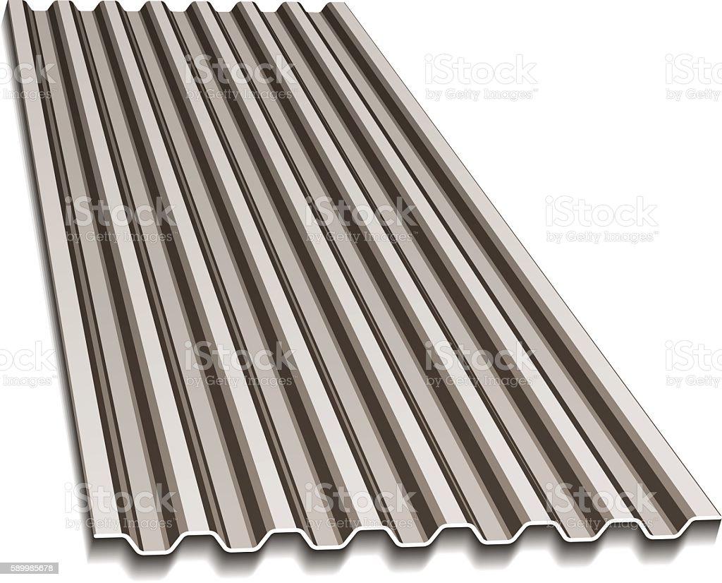 corrugated roofing sheet vector art illustration