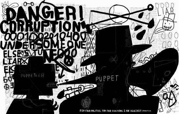 Corrupt vector art illustration