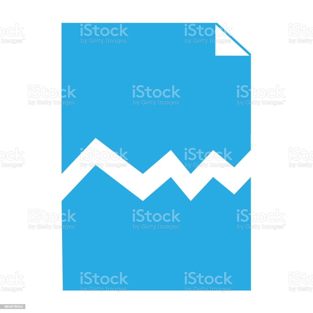 corrupted file sign. broken file icon on white background. flat style. blue corrupt file symbol. royalty-free corrupted file sign broken file icon on white background flat style blue corrupt file symbol stock vector art & more images of abstract