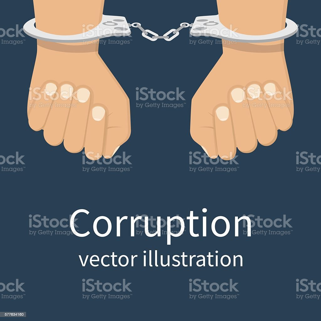 Corruption icon vector vector art illustration