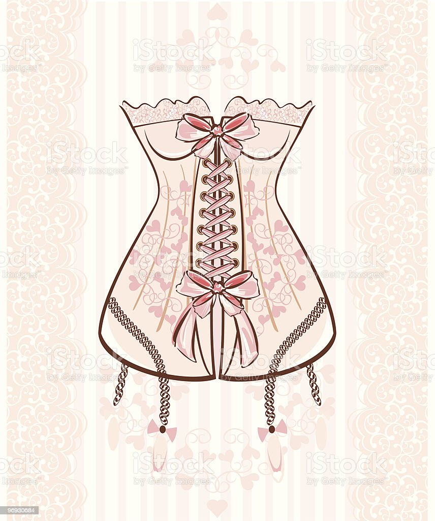 Corset royalty-free corset stock vector art & more images of clothing