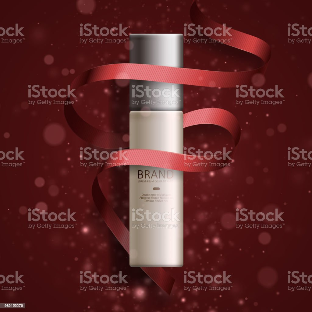 Cosmetic ads. Illustration for annual sale or christmas sale vector art illustration
