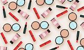 Cosmetic background stock illustration