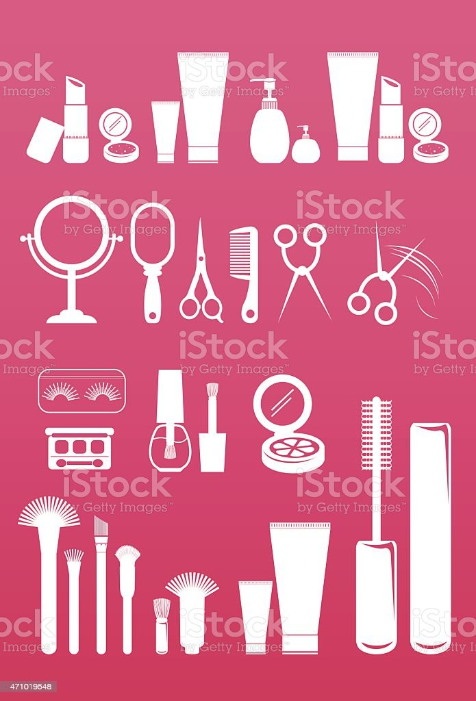 Cosmetic Beauty collection vector art illustration