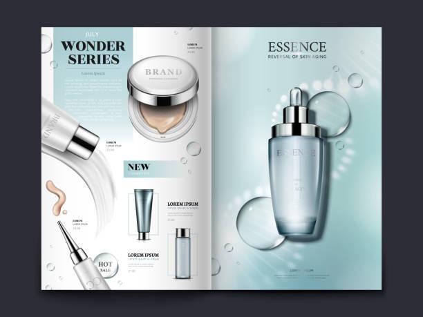 cosmetic brochure design - katalog stock illustrations