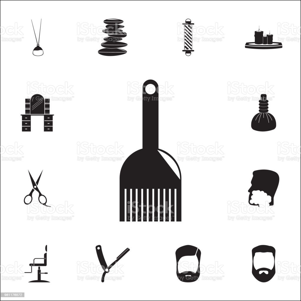 Cosmetic Brush For Hair Coloring Icon Detailed Set Of Barber Icons