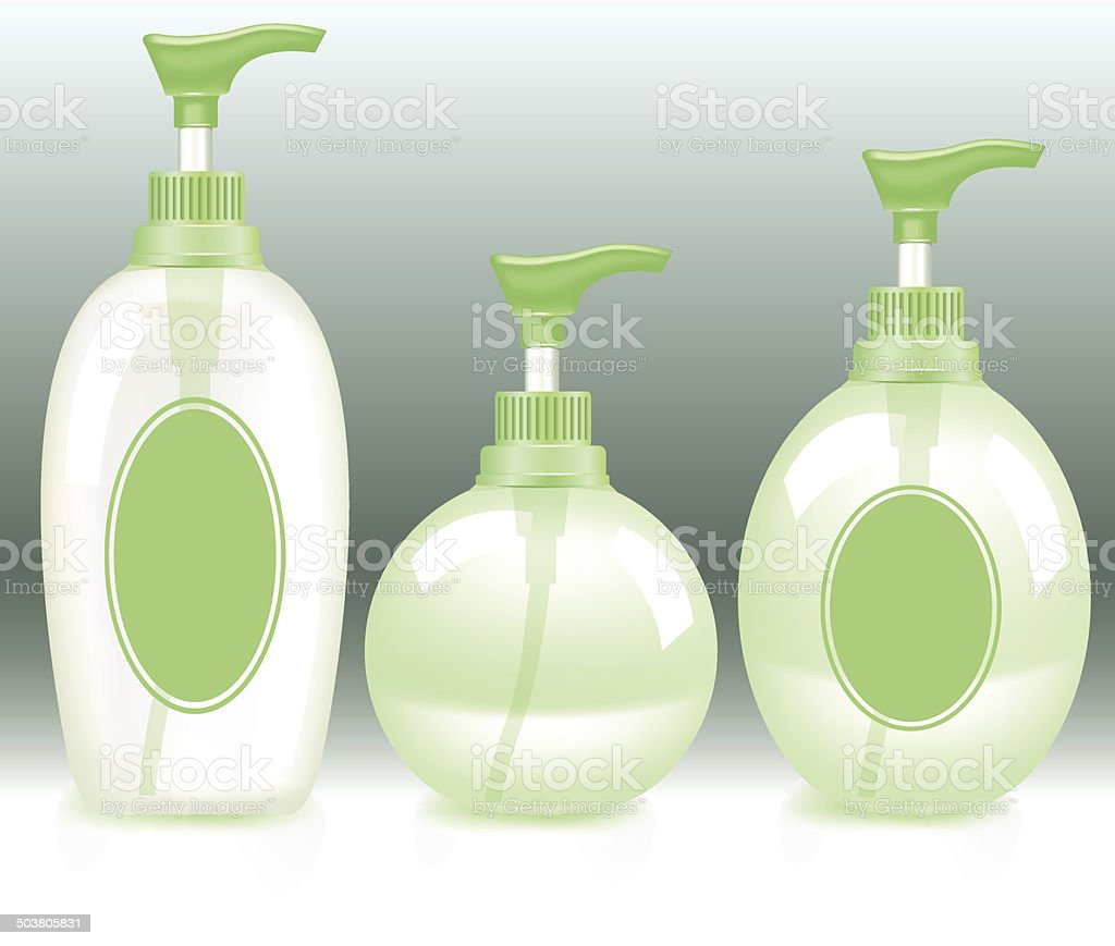 Cosmetic Containers - Illustration vector art illustration
