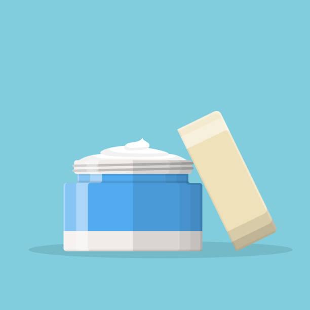 ilustrações, clipart, desenhos animados e ícones de ícone de creme cosmético - hidratante