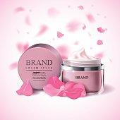Cosmetic cream template
