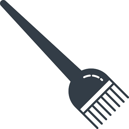 Cosmetic Hair dyeing Brush for Beatuy Makeup Salon Concept Vector Icon design, fashion accessory and glamour Symbol on White background