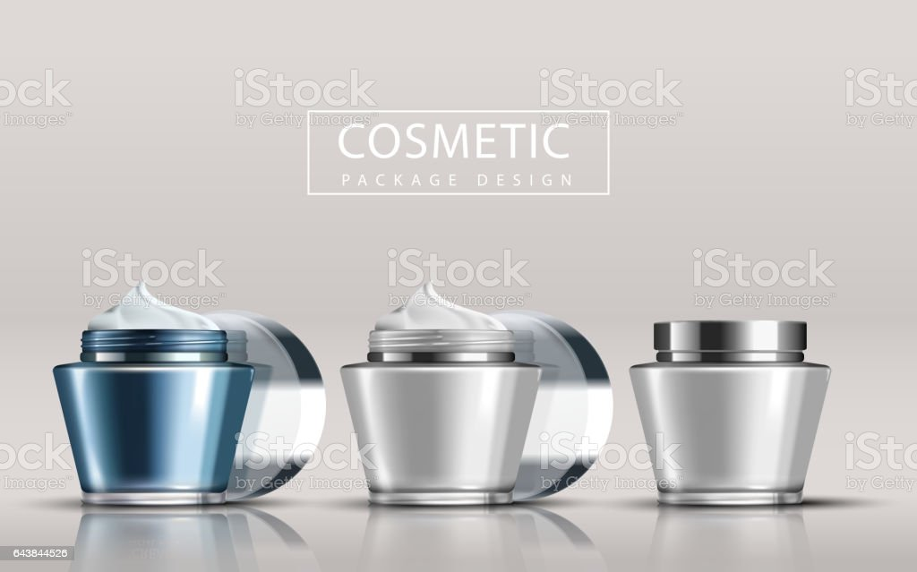 Cosmetic package design vector art illustration