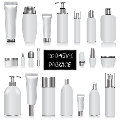 Cosmetic package the silver