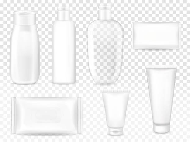 化粧品パッケージ 3dベクトルイラスト - 体 洗う点のイラスト素材/クリップアート素材/マンガ素材/アイコン素材