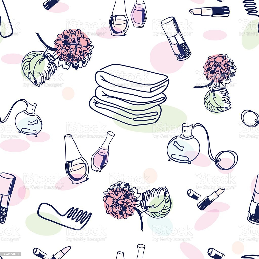 cosmetic pattern stock vector art amp more images of