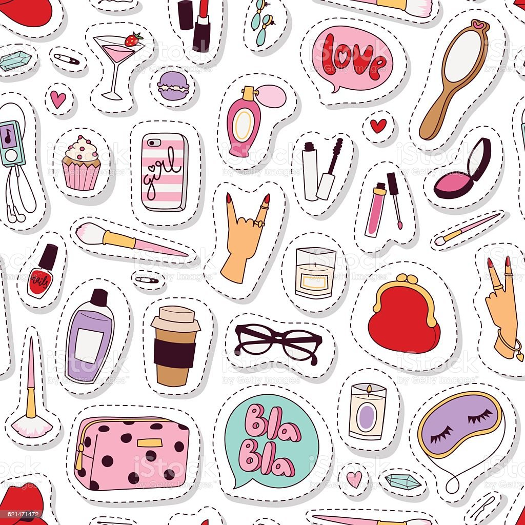 cosmetic pattern vector stock vector art amp more images of