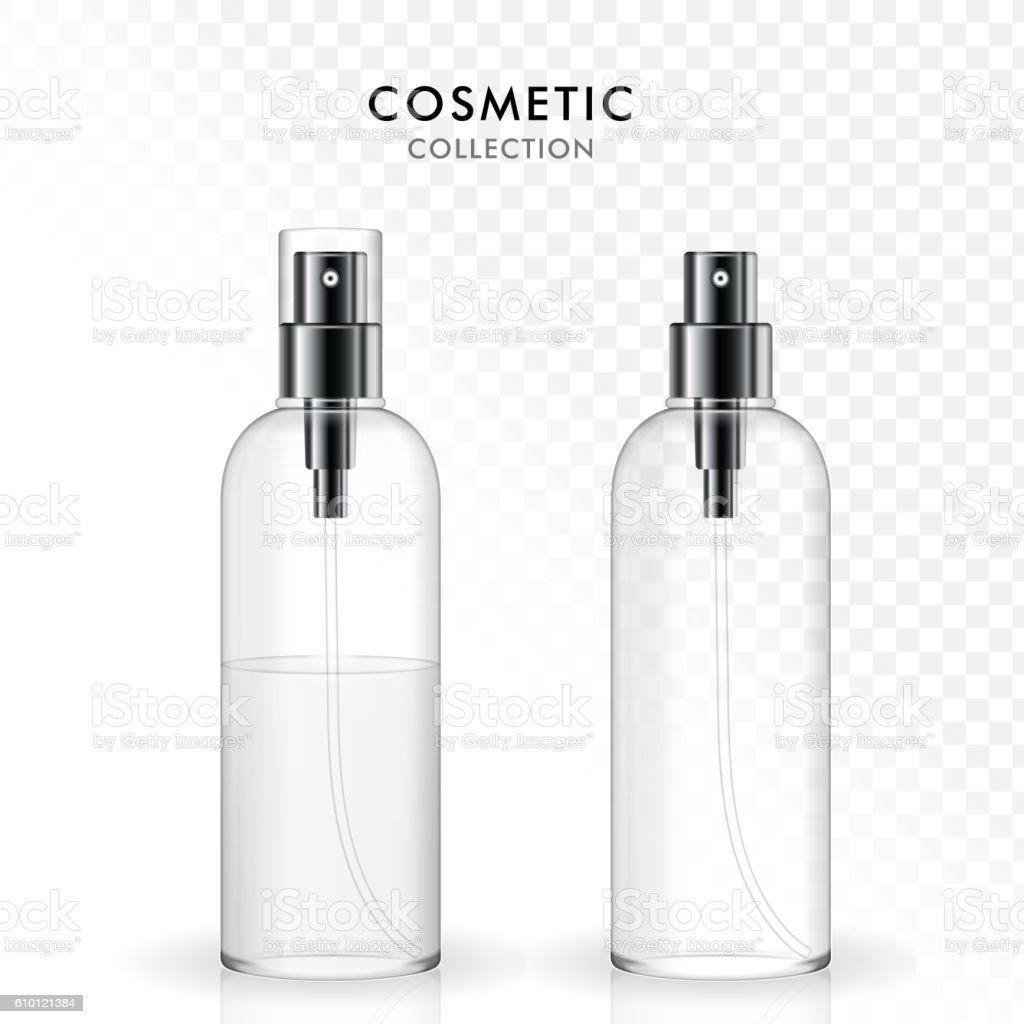 cosmetic spray bottle template set からっぽのベクターアート素材や