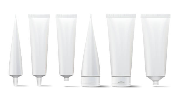 Cosmetic Tube Set. Vector Mock Up. Cosmetic, Cream, Tooth Paste, Glue White Plastic Tubes Open And Closed Set Packaging Realistic Illustration. Isolated Cosmetic Tube Set. Vector Mock Up. Cosmetic, Cream, Tooth Paste, Glue White Plastic Tubes Open And Closed Set tube stock illustrations