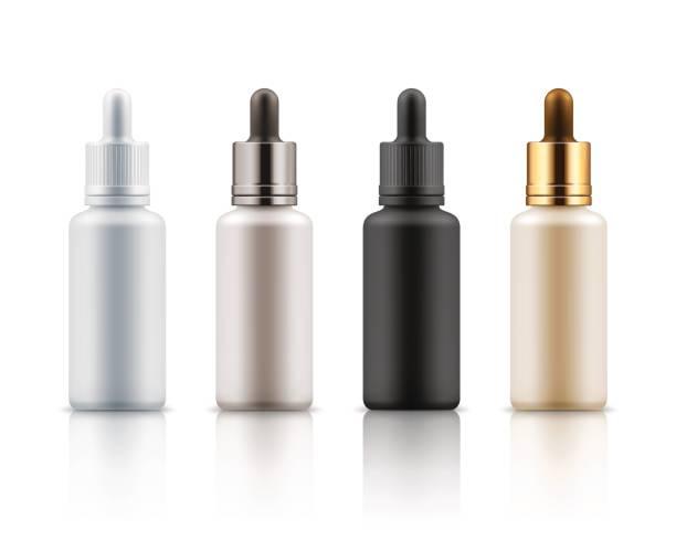 ilustrações, clipart, desenhos animados e ícones de frascos de cosméticos para o essencial, soro - tratamentos de beleza