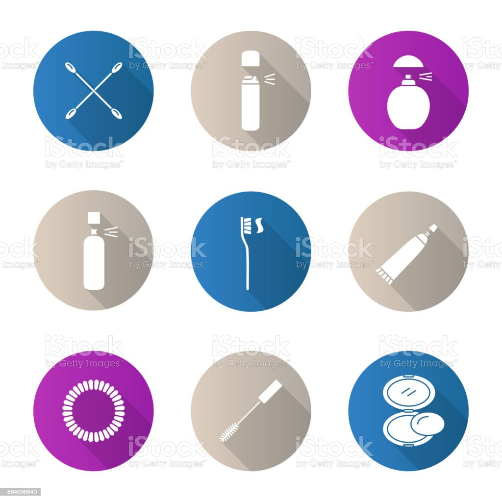 Cosmetics accessories icons royalty-free cosmetics accessories icons stock vector art & more images of beautician