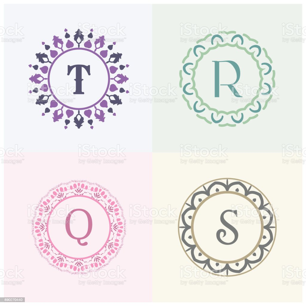 Cosmetics And Beauty Product Brand Letter T And R Vector Design Q