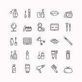 Cosmetics & Beauty Line Icons