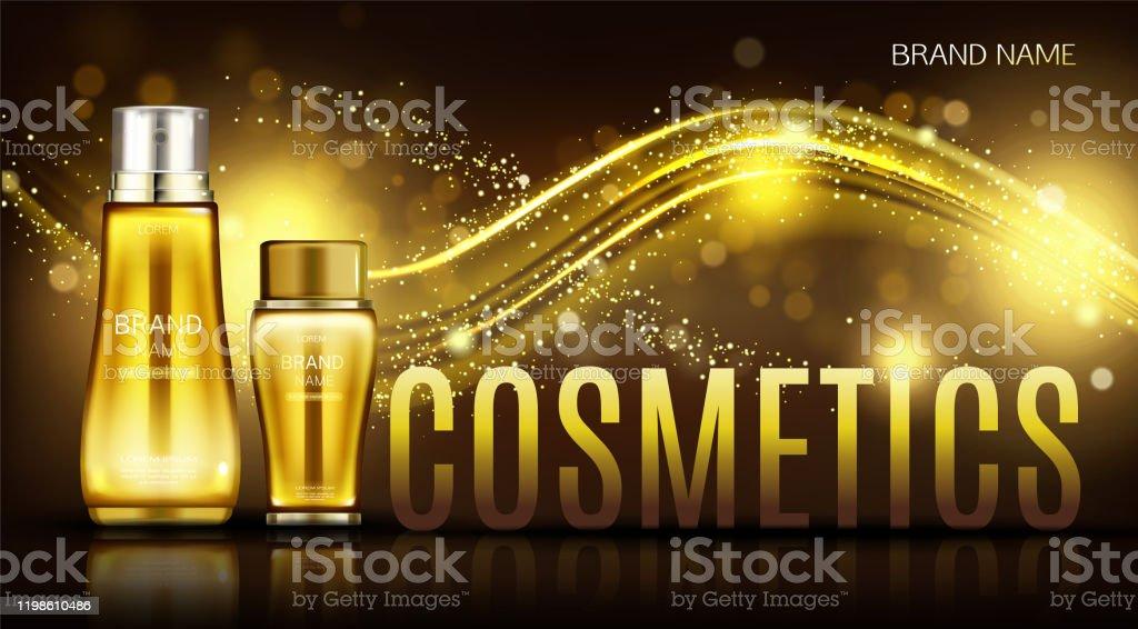 Cosmetics Bottles Mock Up Banner Skin Care Cream Stock Illustration Download Image Now Istock