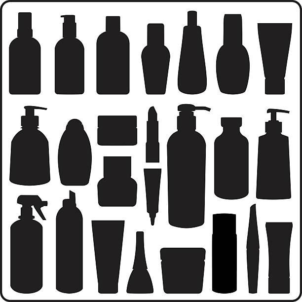 Kosmetik-Flaschen – Vektorgrafik