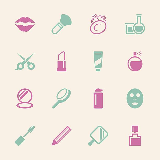 kosmetik-icons-color-serie/eps10 - haarsprays stock-grafiken, -clipart, -cartoons und -symbole