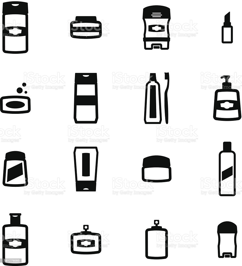 Cosmetics Icons vector art illustration