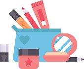 Cosmetics icons vector illustration.
