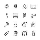 16 Cosmetics Outline Icons.